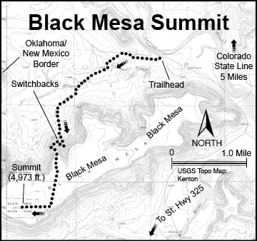 Information For Black Mesa Oklahoma S Highest Point At 4 973 Feet